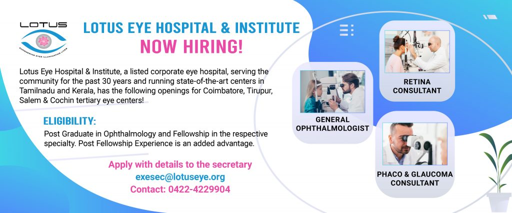 Ophthalmic Consultants Required - Vacancy for Eye Doctors